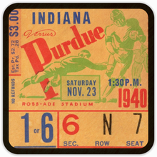 Load image into Gallery viewer, 1940 Indiana vs. Purdue Vintage Ticket Coasters