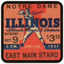 Load image into Gallery viewer, Vintage Ticket Drink Coasters