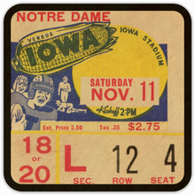 Load image into Gallery viewer, 1939 Iowa Hawkeye Football Ticket Coasters