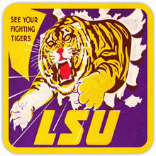 Load image into Gallery viewer, 1950's LSU Tiger Coasters
