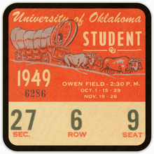 Load image into Gallery viewer, 1949 Oklahoma Sooners Ticket Coasters