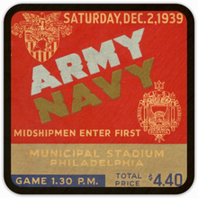 Load image into Gallery viewer, 1939 Army vs. Navy