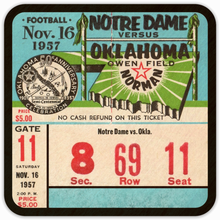 Load image into Gallery viewer, 1957 Notre Dame vs. Oklahoma ( NCAA record 47 game win streak broken)