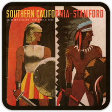 Load image into Gallery viewer, 1950 USC vs. Stanford Program Coasters