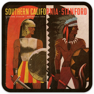 1950 USC vs. Stanford Program Coasters