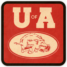 Load image into Gallery viewer, 1950's Arkansas Razorback Coasters
