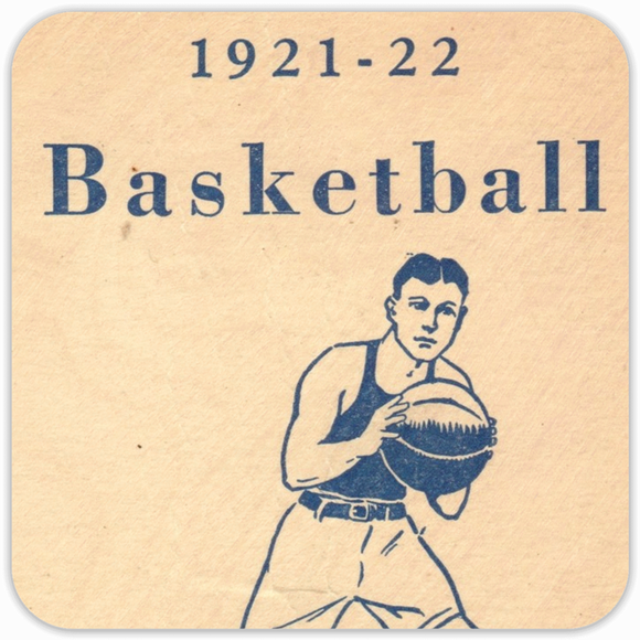 1921 Vintage Basketball Birch Wood Coasters