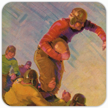 Load image into Gallery viewer, 1928 Football Action Birch Wood Coasters