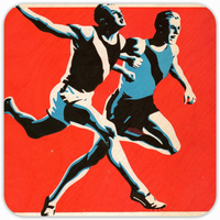 1930's Track and Field Drink Coasters