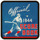 1944 Baseball Score Book Birch Wood Coasters: Father's Day 2019 Gift Ideas