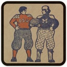 Load image into Gallery viewer, 1901 Michigan vs. Ohio State Birch Wood Program Coasters