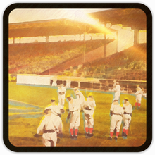 Load image into Gallery viewer, 1919 Red Sox Warm Up Birch Wood Coasters