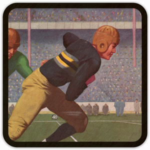 1934 Football Action Birch Wood Coasters