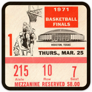 Coolstub™ 1971 College Basketball Finals Birch Wood Coasters
