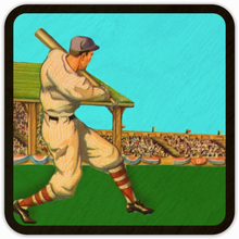 Load image into Gallery viewer, 1940's Baseball Art Birch Wood Coasters: Best Father's Day Baseball Gifts