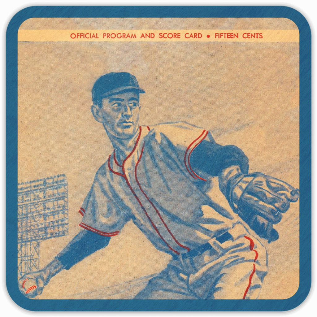 Coolstub™ 1960 Baseball Scorecard Birch Wood Coasters