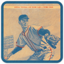 Load image into Gallery viewer, Coolstub™ 1960 Baseball Scorecard Birch Wood Coasters