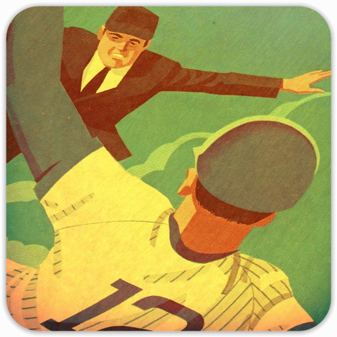 1981 Ultra Retro™ Baseball Slide Wood Coasters
