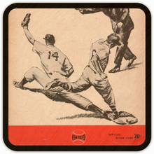 Load image into Gallery viewer, Coolstub™ 1959 Birth Year Sports Gift: 1959 Scorecard Drink Coaster Set