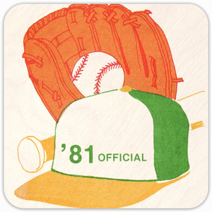 Coolstub™ 1981 Birth Year Gift Baseball Drink Coasters