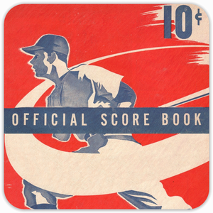 1950 Baseball Birch Wood Coasters by Coolstub™