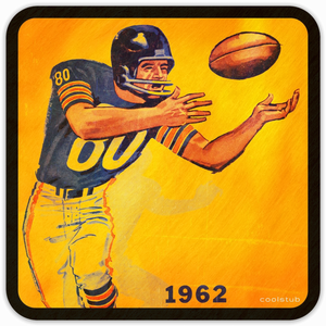 Coolstub™ 1962 Football Program Birch Wood Coasters