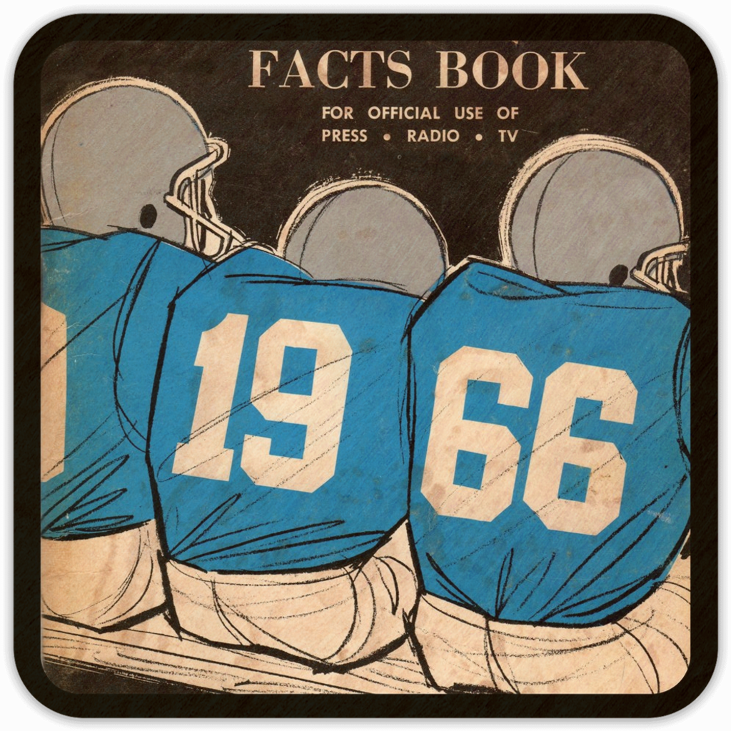 Coolstub™ 1966 Football Press Guide Birch Wood Coasters