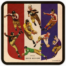 Load image into Gallery viewer, Coolstub™ 1941 Birth Year Sports Gifts: 1941 Football Program Cover Art Coasters