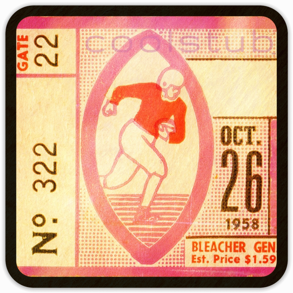 Coolstub™ October 26th, 1958 Birth Year Gift Ideas: 1958 Ticket Stub Coaster