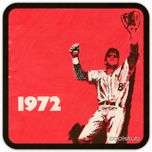 Load image into Gallery viewer, Coolstub™ 1972 Birth Year Gift: 1972 Retro Baseball Art Birch Wood Coasters
