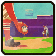 Load image into Gallery viewer, Coolstub™ Vintage Baseball Drink Coasters: 1953 First Pitch