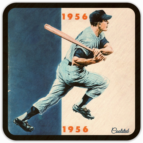 Coolstub™ 1956 Birth Year Gift Idea: 1956 Baseball Art Coasters