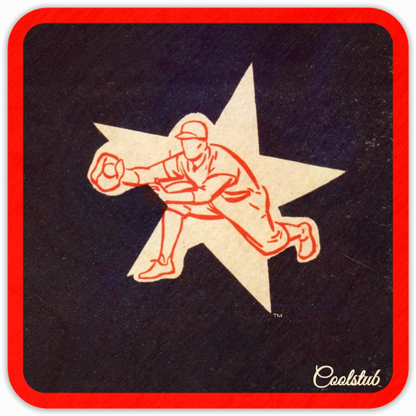 Coolstub™ 1953 Baseball Star Birch Wood Coasters