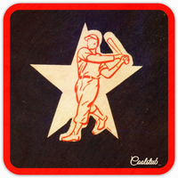 Coolstub™ 1953 Baseball Star Hitter Birch Wood Coasters