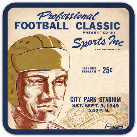 Coolstub™ 1949 City Park Stadium Professional Football Classic Program Coasters