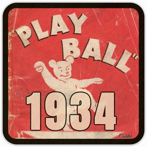 Best Father's Day 2019 Gift Ideas: Coolstub™ 1934 Play Ball Coaster Set