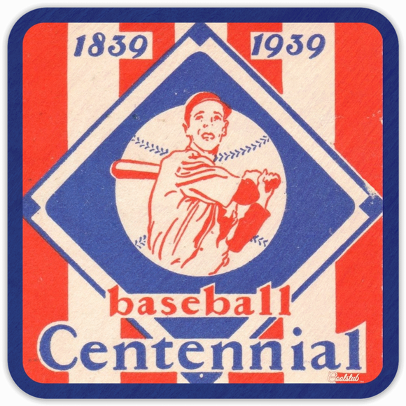 Best 2019 Father's Day Gifts: Coolstub™ 1939 Baseball Centennial Birch Wood Drink Coaster Set