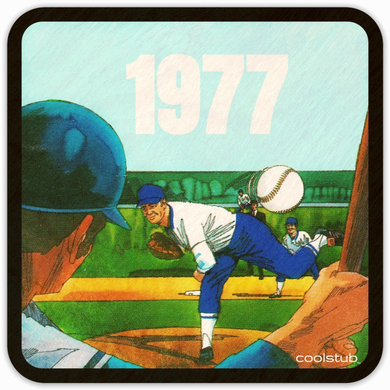 Best Birth Year Gifts For Sports Fans: Coolstub™ 1977 Baseball Coaster Set
