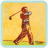 Vintage Golf Drink Coasters by Coolstub™