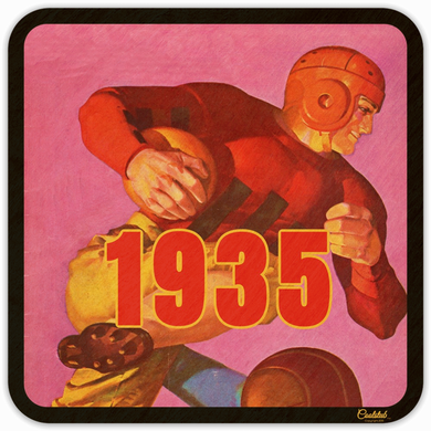 1935 Vintage Football Program Cover Drink Coasters by Coolstub™