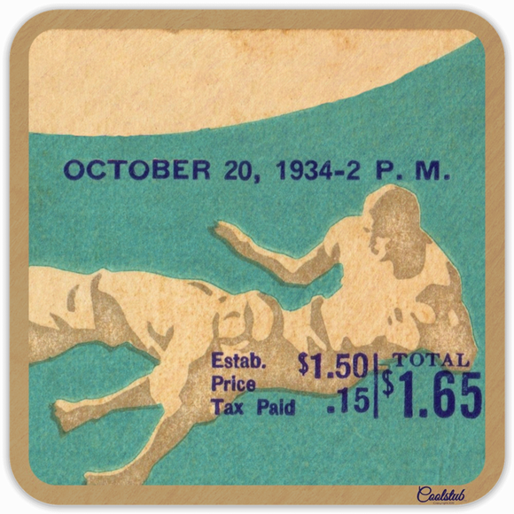 1934 Vintage Ticket Coasters by Coolstub™