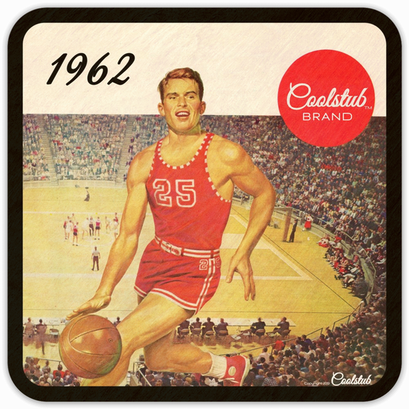 1962 Birth Year Gift Ideas: Coolstub™ Basketball Coasters