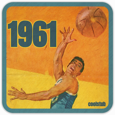Best 1961 Birth Year Gifts: Coolstub™ Vintage Basketball Program Coasters