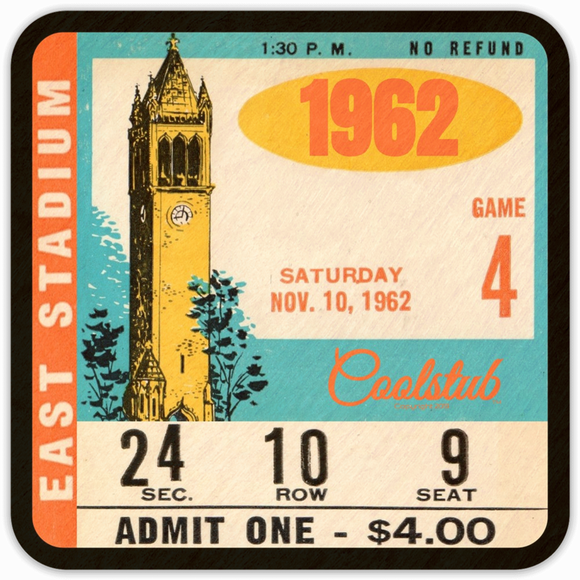 1962 Birth Year Gift Ideas: Coolstub™ 1962 Vintage Ticket Coasters