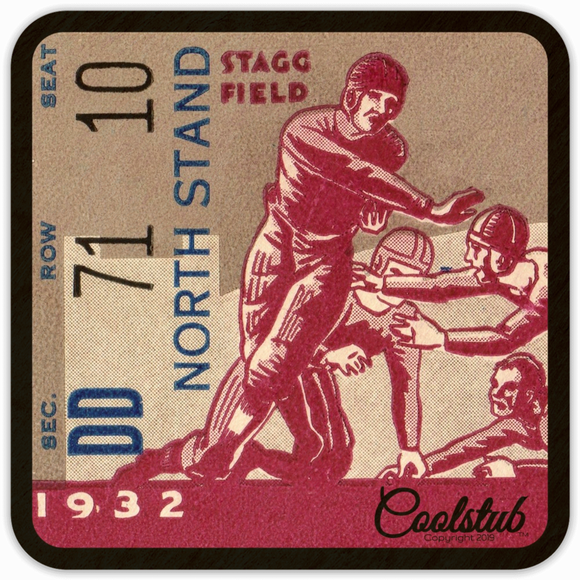 Best Gameday Drink Coasters: Coolstub™ 1932 Football Ticket Coasters