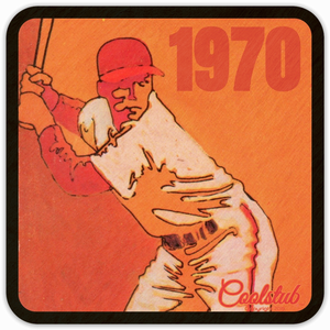 Best 1970 Birth Year Gifts: Coolstub™ 1970 Baseball Art Drink Coasters
