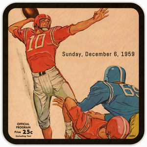 1959 Birth Year Gift Ideas: Sunday, December 6, 1959 Football Coasters by Coolstub™