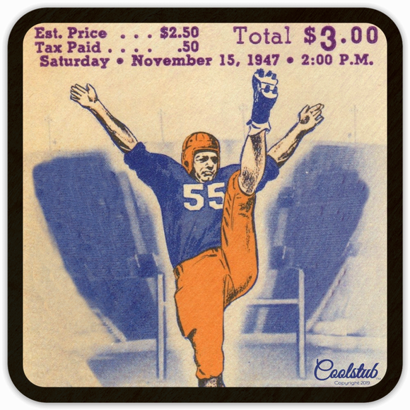 1947 Birth Year Gift Ideas: Coolstub™ 1947 Vintage Ticket Coasters