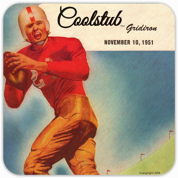 November 10, 1951: Coolstub™ 1951 Football Program Coasters