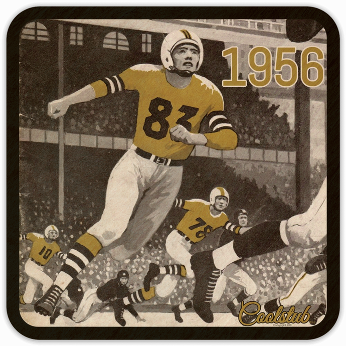 1956 Birth Year Gifts: Coolstub™ 1956 Vintage Football Drink Coasters